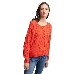 Anthropologie cabled chenille pullover sweater